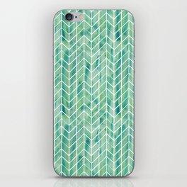 Caribbean green watercolor pattern iPhone Skin