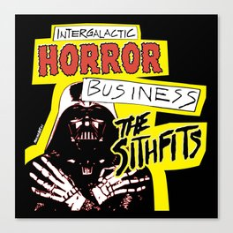 Sithfits Intergalactic Horror Business Canvas Print