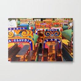 Mexico - Xochimilco Bright Boats Metal Print
