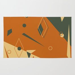 Geometrical style print illustration Rug