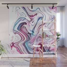Liquid Marble - Pink and Blue Wall Mural