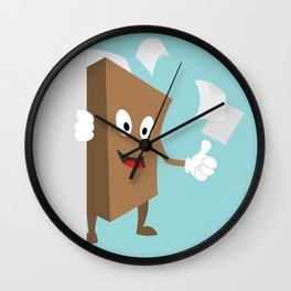 International Day of Democracy - human rights are taken care by democratic societies Wall Clock