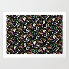 late summer bouquet pattern Art Print