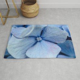 Blue Hydrangea center Rug