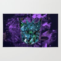 transformers Area & Throw Rugs featuring Decepticons Abstractness - Transformers by DesignLawrence