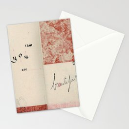 """""""You are so beautiful"""" Stationery Cards"""