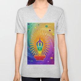 COLORFUL Om Meditation Mantra Chanting DESIGN Unisex V-Neck