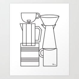 COFFEE. Art Print