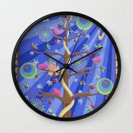 Mandala Tree Wall Clock