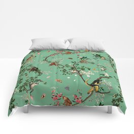 Monkey World Green Comforters