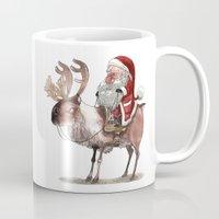 bouletcorp Mugs featuring Père Noël Énervé / Angry Santa by Bouletcorp