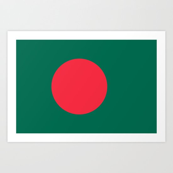 The Flag of Bangladesh - Authentic 3:5 version Art Print