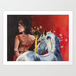 Muse-Red Art Print