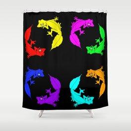Rainbow Satanic Leaftail geckos Shower Curtain