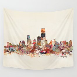 jersey city new jersey Wall Tapestry
