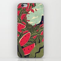 watermelon iPhone & iPod Skins featuring Watermelon surf dream by Yetiland