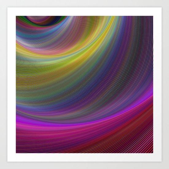 Magic waves Art Print
