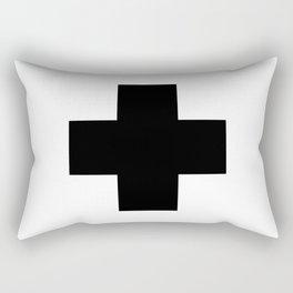 Black Swiss Cross Rectangular Pillow