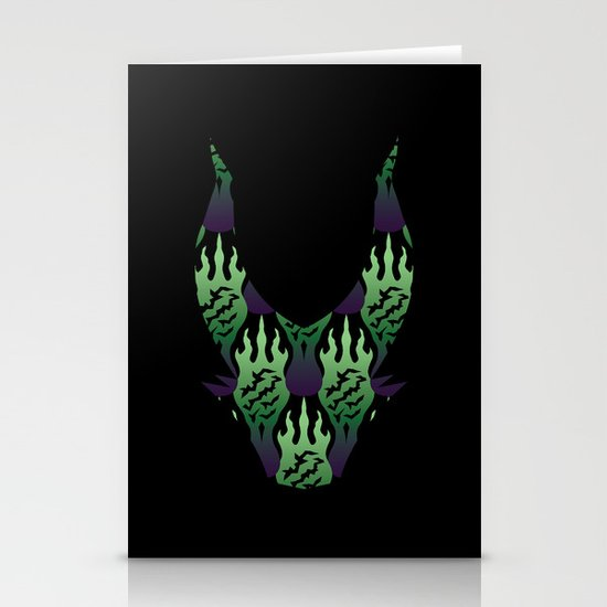 SCORCH pattern ~ Maleficent Stationery Cards