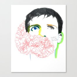 ian curtis Canvas Print