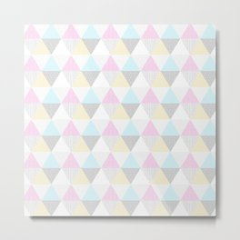 Triangle Quilt in Pastels Metal Print