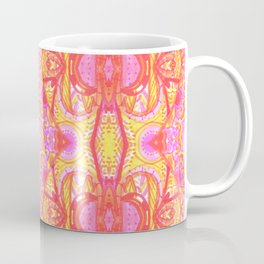 Rose Peacock Pattern Coffee Mug