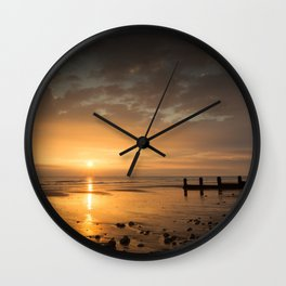 Sunrise on Cromer Beach Wall Clock