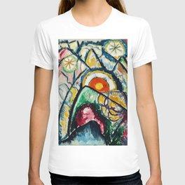 Italian Dolomite Mountains, Gardena Pass Italian Alps, sunrise landscape painting by Marsden Hartley T-shirt