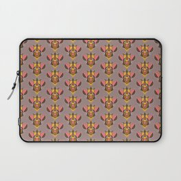 Bizarro Beetle in Pink, Yellow and Mauve Laptop Sleeve