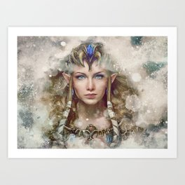 Epic Princess Zelda from Legend of Zelda Painting Art Print