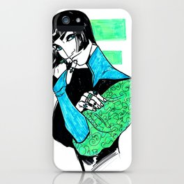 Noreat in Green and Blue iPhone Case