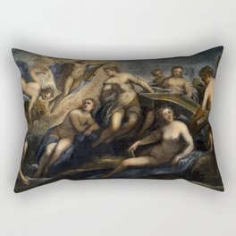 "Tintoretto (Jacopo Robusti) ""Apollo with Concert of the Muses"" Rectangular Pillow"