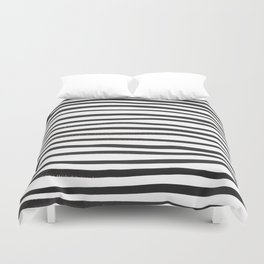 brushstroke stripes Duvet Cover