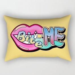 Bite Me - yellow Rectangular Pillow