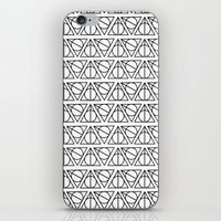 deathly hallows iPhone & iPod Skins featuring Deathly Hallows by bookotter