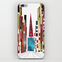buildings iPhone & iPod Skins featuring Buildings by March Hunger