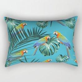 Parrots in the Tropical Jungle #2 #tropical #decor #art #society6 Rectangular Pillow