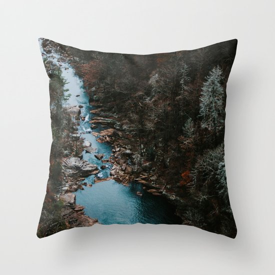 Blue Creek #landscape #society6 Throw Pillow