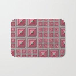 """Grandma's pink blanket"" Bath Mat"