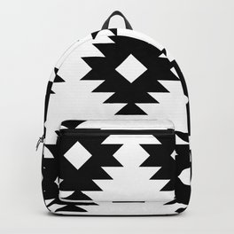 Southwestern Pattern 822 Black and White Backpack