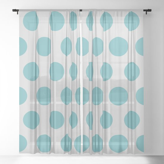 Mid Century Modern Polka Dots 559 Teal and Gray by tonymagnerdesign