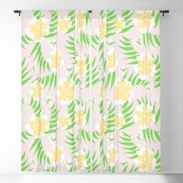 21 Tropical Soft Flowers Blackout Curtain