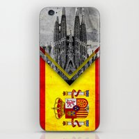 spain iPhone & iPod Skins featuring Flags - Spain by Ale Ibanez