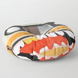 The cassette tape golden tooth Floor Pillow