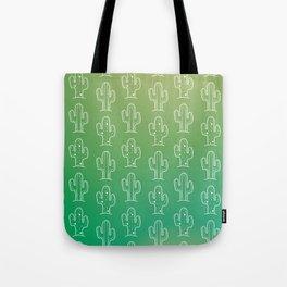 Green Cactus Print Tote Bag