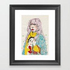 girl9 Framed Art Print
