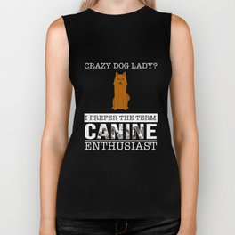 Crazy Karelian Finnish Laika Dog Lady I Prefer The Term Canine Enthusiast Biker Tank