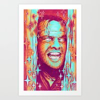 the shining Art Prints featuring Shining by Retkikosmos