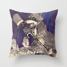 Dapper Raccoon Throw Pillow