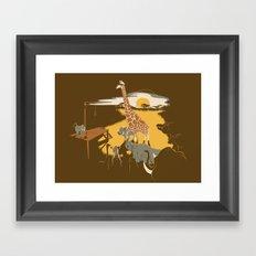 Savanna Trampler Framed Art Print